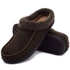 ULTRAIDEAS <b>Men's</b> Cozy Memory Foam Moccasin Suede <b>Slippers</b>