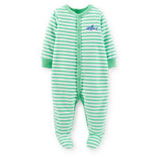 upc baby boy nb m carter s stripe shark sleeper upc 888510503712 product image for newborn boy s snap front sleeper pajamas shark upcitemdb