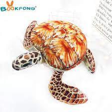 1pc Lovely Ocean Sea Turtle Plush Toys Soft Tortoise <b>Stuffed</b> ...