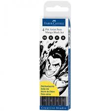 <b>Faber</b>-<b>Castell Набор</b> капиллярных ручек Pitt Artist Pen Manga set 4 ...