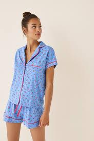 Short classic <b>cherry</b> pyjamas