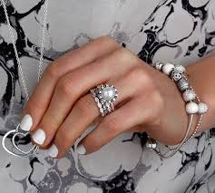 Go all white for all details; <b>nails</b>, rings, <b>bracelet</b> ...