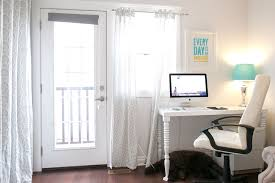 officealluring home office decorating ideas with white wooden office table and white chair also alluring home office