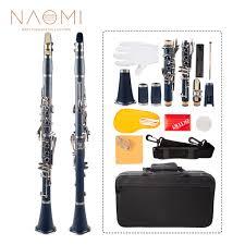 <b>Naomi</b> Professional Bb Clarinet ABS Clarinet Cupronickel Plated ...