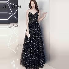 <b>It's YiiYa</b> New Sexy Spaghetti Strap <b>Evening Dresses</b> Elegant V ...