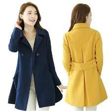 <b>2019 Red</b> Long Longsleeve Cotton Trench Coat Chic Windbreaker ...