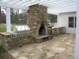 outdoor kitchen beautiful glass tile natural stone