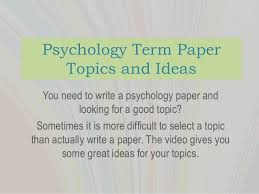 Psychology research papers