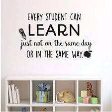 liubeiniubi Every Student Can Learn <b>Wall Stickers Classroom</b>