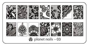 <b>Planet Nails</b>, <b>Пластина для</b> Stamping Nail Art (25 видов) - 02 | xn ...
