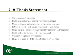 thesis support essay essay components  an introduction  a