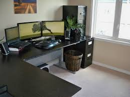 furniture furniture office workspace fancy modern desk for small space design inspiration with charming black curved computer desk and wonderful rattan charming office plants