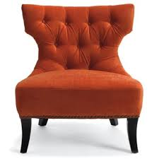tufted burnt orange chair right color wrong chair style burnt red home office