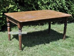 1950 Dining Room Furniture Solid Wood Antique Primitive Farm Kitchen Dining Table 1900 1950