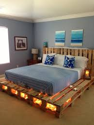 europallets bed headboard under lighting candle light mattress bedroom headboard lighting