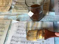 130 Nov. tea ideas | sheet music crafts, music crafts, christmas diy