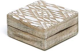 NIKKY HOME Mango Wood Storage Boxes Hand ... - Amazon.com