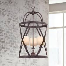 franklin iron works alder 15 12 wide bronze pendant light blown pendant lights lighting september 15