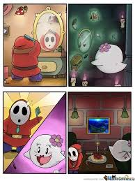 Shy Guy X Boo by david43 - Meme Center via Relatably.com