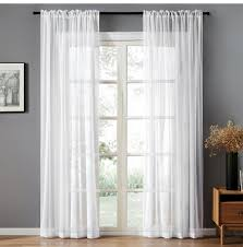 <b>LISM Solid</b> Withe Tulle Window Curtains For Living Room Bedroom ...
