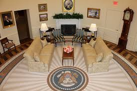 a photo of the replica oval office in the george w bush presidential center in carpet oval office inspirational