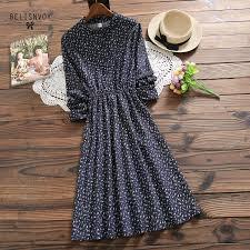 Mori Girl <b>Autumn Winter Women</b> Prairie Chic Dress <b>Floral Printed</b> ...