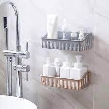 <b>Non</b>-<b>Perforated Bathroom Racks</b> Toilet Plastic Wall Shelves Storage ...