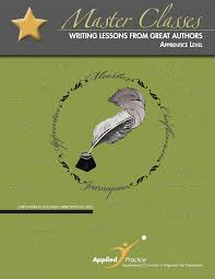 master classes in writing applied practice master classes in writing