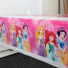 <b>108x180cm</b> 1pc Princess Ariel Tablecloth Table cover Map Kids ...
