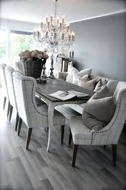 chair dining room tables rustic chairs: grey rustic dining table with beautiful fabric chairs the combination is modern and elegant