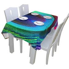 Tablecloth For Dining Room Table Baihuishop Peacock Feathers Floral Print Tablecloth Rectangular