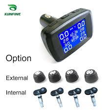 <b>Smart Car TPMS Tyre</b> Pressure Monitoring System Cigarette Lighter ...