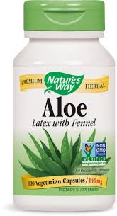 Nature's Way <b>Aloe Latex with Fennel</b> 140 mg, 100 Vcaps, 100 Vcaps ...