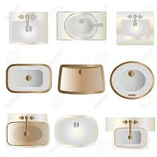 <b>Bathroom</b> , wash basin top view <b>set 11</b> for interior , vector | Home ...