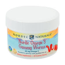 <b>Nordic Omega 3 Gummy Worms</b>, 30 gummy worms, Nordic Naturals ...