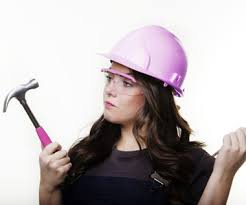 Image result for girl in hard hat