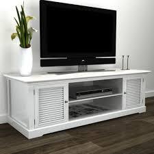 vidaXL <b>White Wooden TV</b> Stand | Bunnings Warehouse