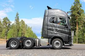 Volvo North America Tammisaari Finland July 20 2013 New Volvo Fh16 600 Truck