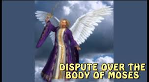Image result for michael the archangel contends with the devil over the body of moses