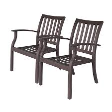 comfortable patio chairs aluminum chair: allen roth gatewood  count brown aluminum stackable patio dining chairs