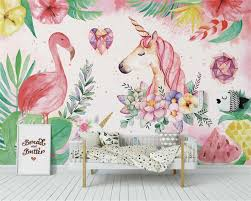 <b>Beibehang</b> Custom wallpaper mural Nordic minimalist dream pony ...