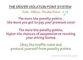 ten points on road safety with safe driving tips   momscribe driver violation point system