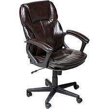 serta managers office chair puresoft faux leather roasted chestnut brown brown leather office chairs