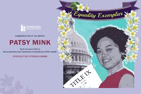 「Patsy Mink authors of the Education Amendments of 1972」の画像検索結果