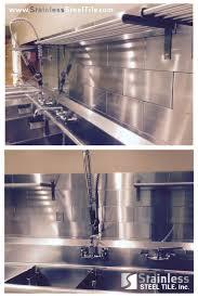 restaurant kitchen faucet small house: stainless steel tile backsplash modern metal tiles diamond subway tile pattern commercial and restaurant kitchen design shop stainless steel tile