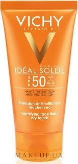 <b>Солнцезащитная</b> матирующая <b>эмульсия для лица</b> SPF50 - Vichy ...