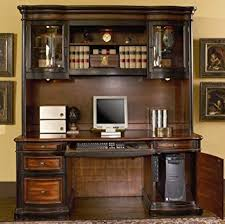 home office computer desk with hutch in two tone warm brown finish amazoncom coaster shape home office computer