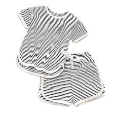 2019 Summer Toddler Kids Baby Girl Boy Striped ... - Amazon.com
