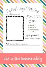 student portfolios activities and preschool worksheets on pinterest my first day of preschool   back to school activity