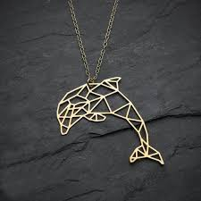 <b>Geometric</b> Dolphin <b>Necklace</b> in 2019 | Budget Gift for Christmas ...